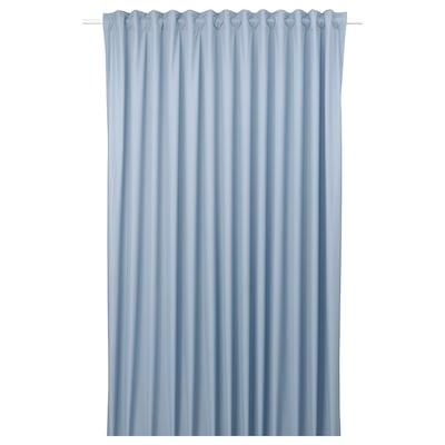 BENGTA Block-out curtain, 1 length, blue, 210x250 cm
