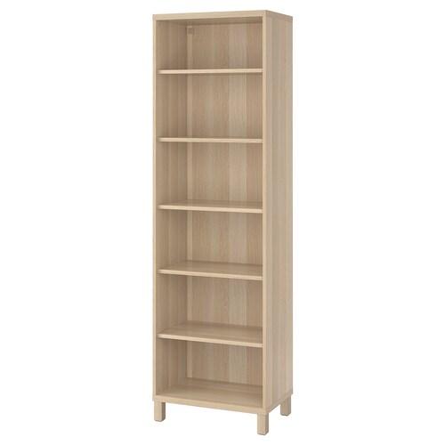 BESTÅ cabinet unit white stained oak effect 60 cm 40 cm 202 cm