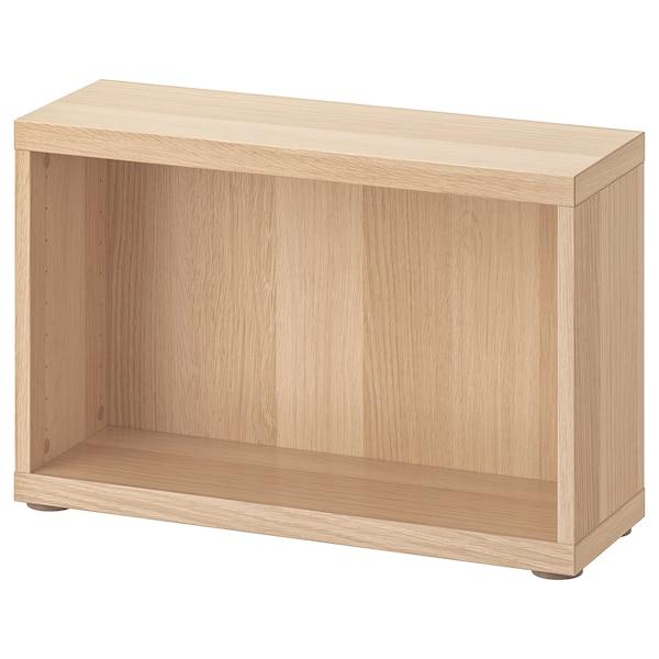 BESTÅ Frame, white stained oak effect, 60x20x38 cm