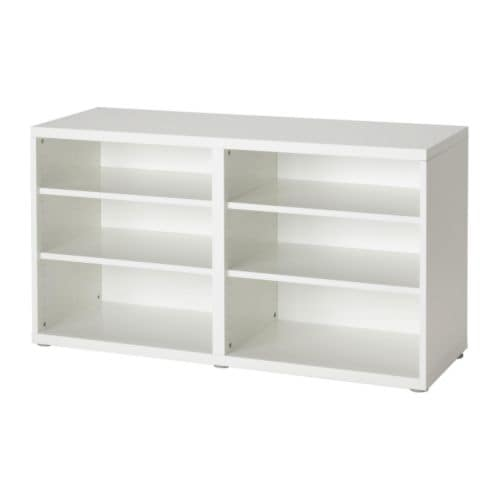 BESTÅ Shelf unit/height extension unit   4 adjustable shelves; adjust spacing according to need.