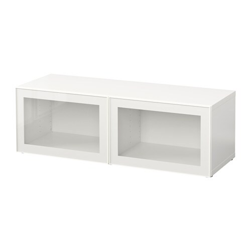 Best 197 Shelf Unit With Glass Doors White Glassvik White