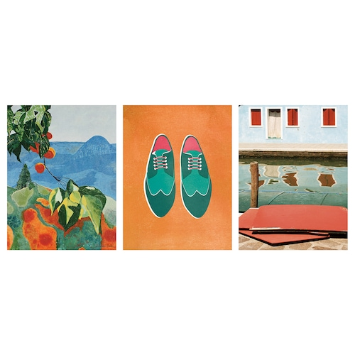 BILD poster Colourful holiday 30 cm 40 cm 3 pieces