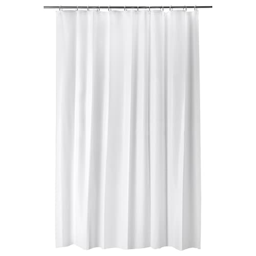 BJÄRSEN shower curtain white 70 g/m² 200 cm 180 cm 3.60 m² 70 g/m²