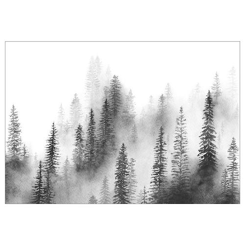 BJÖRKSTA picture Pines 200 cm 140 cm