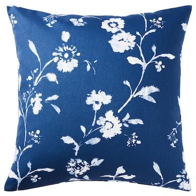 BLÅGRAN Cushion cover, blue/white, 50x50 cm