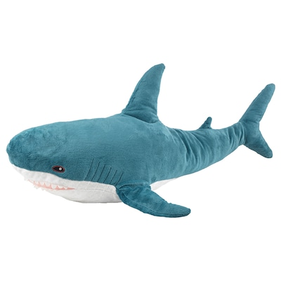 BLÅHAJ Soft toy, shark, 100 cm