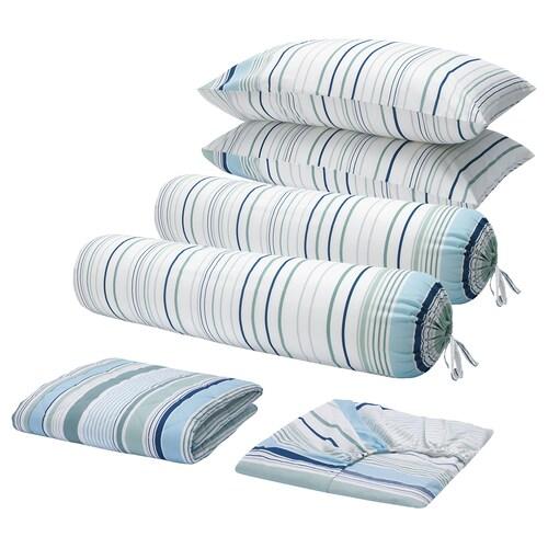 BLÅRIPS 6-piece bedlinen set blue 150 /inch² 1129 g 2518 g