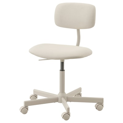 BLECKBERGET Swivel chair, Idekulla beige