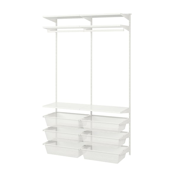 BOAXEL 2 sections, white, 125x40x201 cm