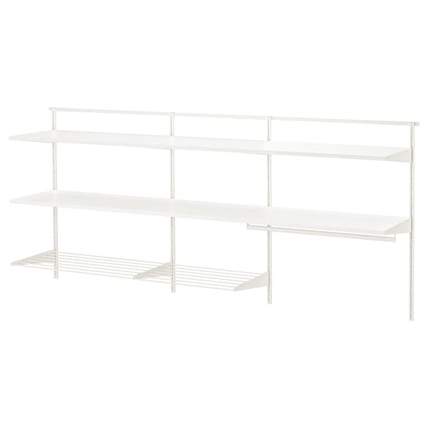 BOAXEL 3 sections, white, 222x40x101 cm