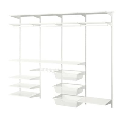 BOAXEL 4 sections, white, 250x40x201 cm
