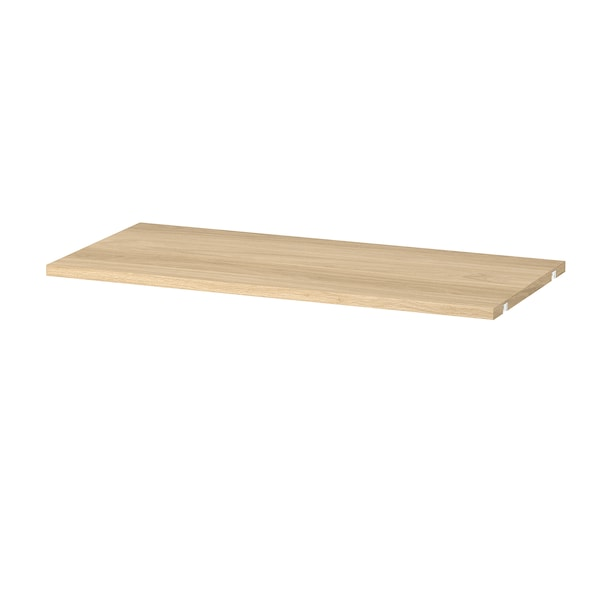 BOAXEL Shelf, oak effect, 80x40 cm