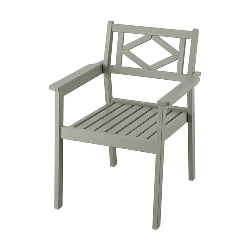 BONDHOLMEN chair with armrests, outdoor grey stained 110 kg 62 cm 62 cm 83 cm 50 cm 50 cm 42 cm 9 kg