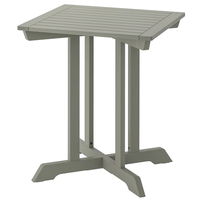 BONDHOLMEN Table, outdoor, grey, 65x65 cm