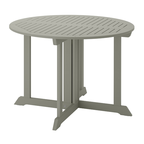 BONDHOLMEN table, outdoor grey stained 74 cm 108 cm