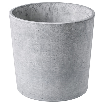 BOYSENBÄR Plant pot, in/outdoor light grey, 19 cm