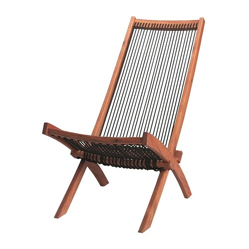 BROMMÖ Lounger, outdoor   Easy to fold up and put away.