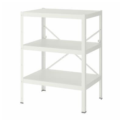 BROR Shelving unit, white, 85x55x110 cm
