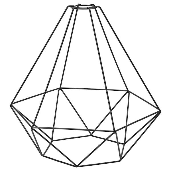 BRUNSTA Pendant lamp shade, black, 35 cm