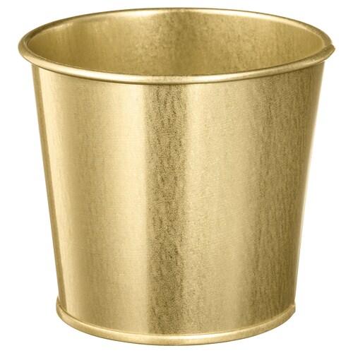 DAIDAI plant pot brass-colour 9 cm 11 cm 9 cm 10 cm