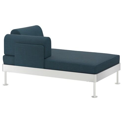 DELAKTIG chaise longue with armrest Hillared dark blue 149 cm 84 cm 45 cm 20 cm 145 cm 80 cm 45 cm