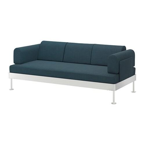 Delaktig 3 Seat Sofa Hillared Dark Blue Ikea