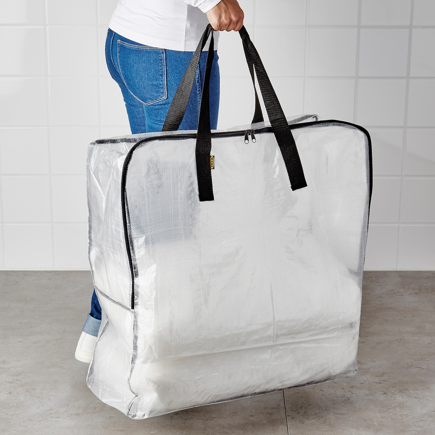 IKEA DIMPA STORAGE BAG CLEAR,PROTECTS CONTENTS AGAINST MOISTURE AND DIRT