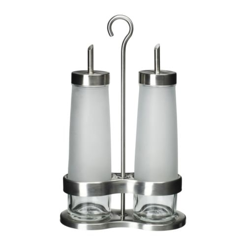 DROPPAR 3-piece oil/vinegar set