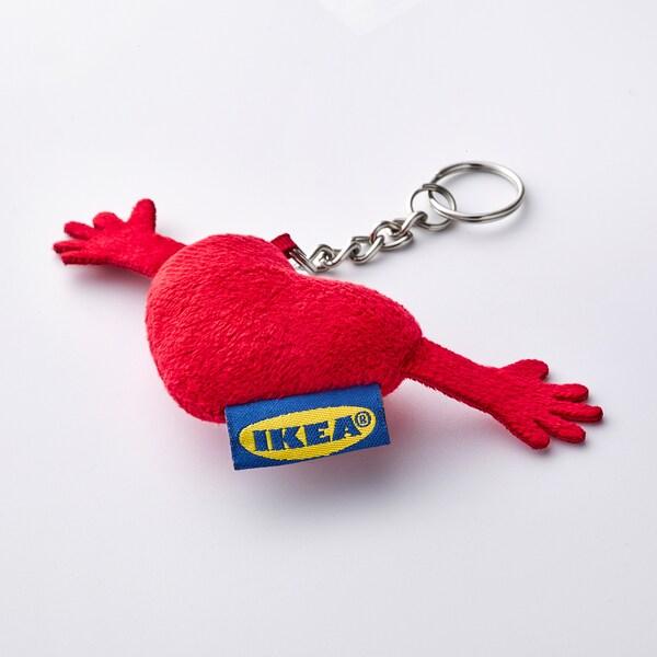 EFTERTRÄDA Key ring, heart