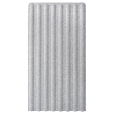EILIF Screen, freestanding, grey, 80x150 cm