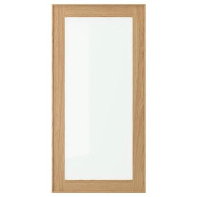 EKESTAD Glass door, oak, 40x80 cm