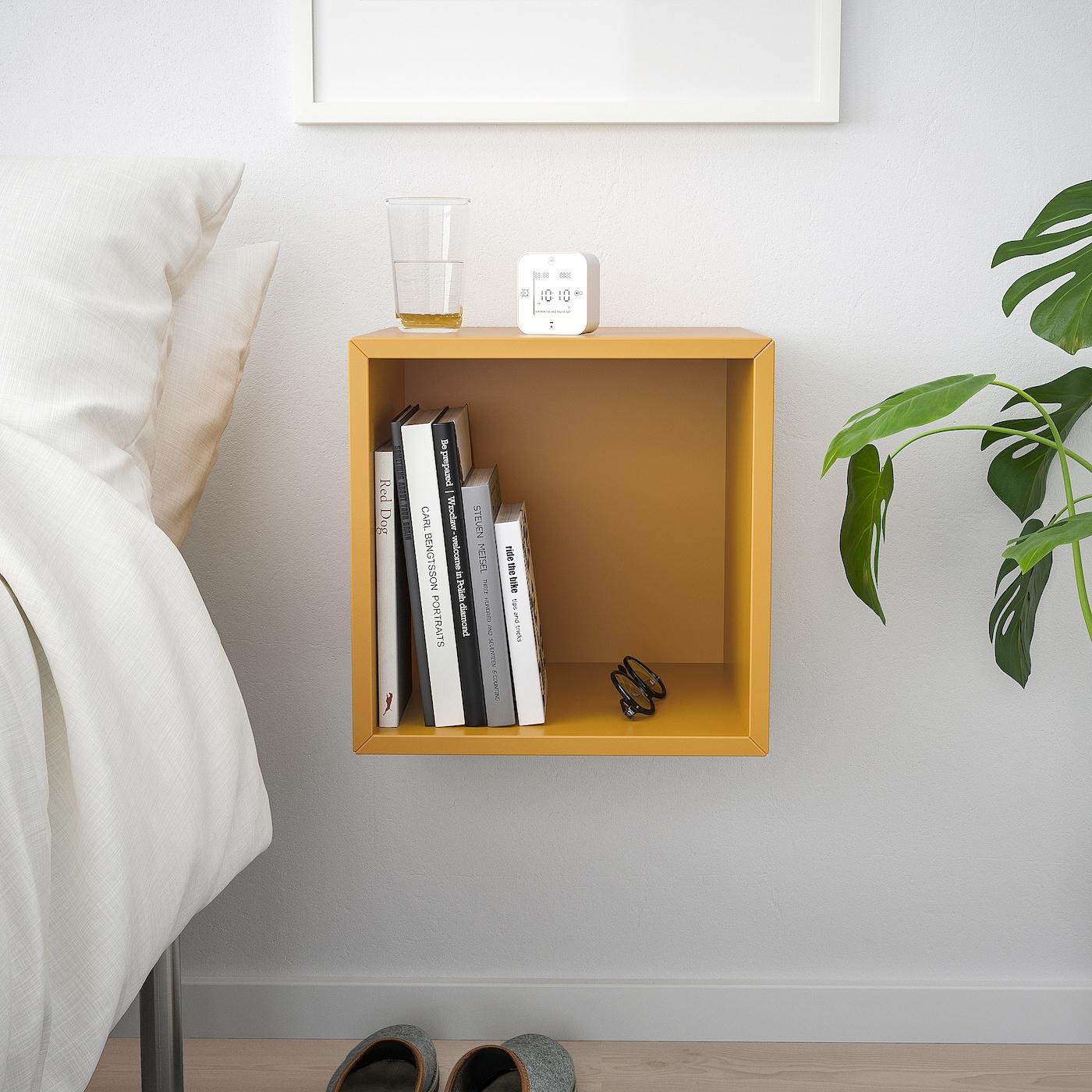 EKET Wall-mounted shelving unit, golden-brown, 35x35x35 cm