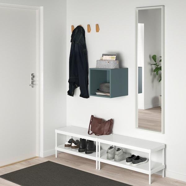EKET Wall-mounted shelving unit, grey-turquoise, 35x35x35 cm