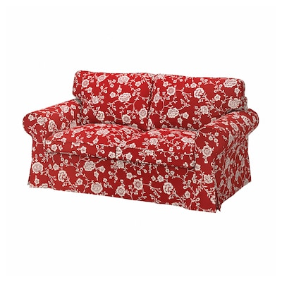 EKTORP 2-seat sofa, Virestad red/white