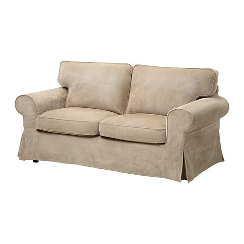 Ektorp cover two seat sofa vellinge beige ikea - Funda sofa ikea ...