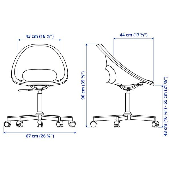 ELDBERGET / MALSKÄR Swivel chair, dark grey/black