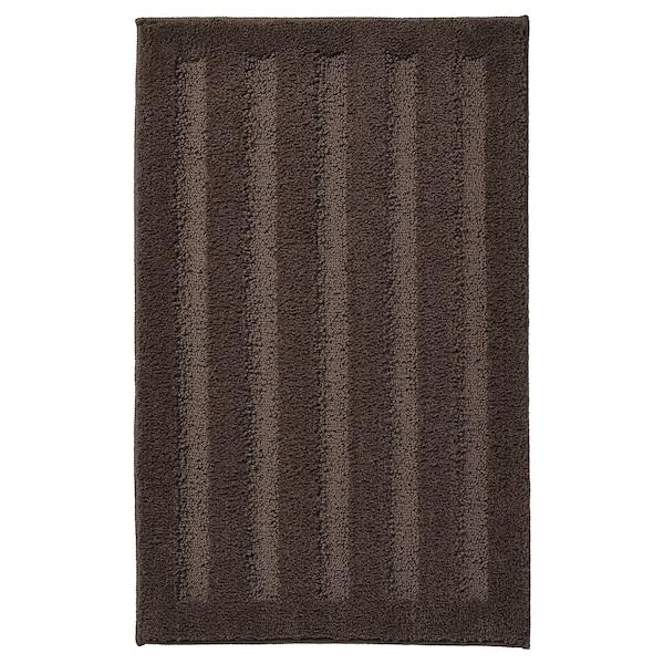 EMTEN Bath mat, dark brown, 40x60 cm