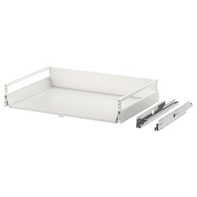 EXCEPTIONELL Drawer, medium with push to open, white, 80x60 cm