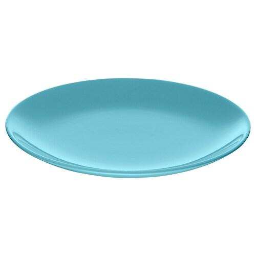 FÄRGRIK side plate turquoise 21 cm