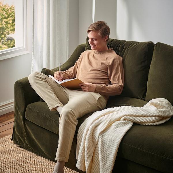 FÄRLÖV 2-seat sofa, Djuparp dark olive-green