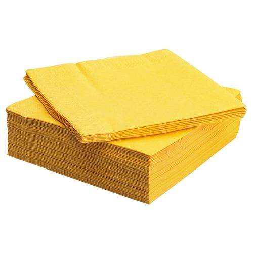 FANTASTISK paper napkin yellow 40 cm 40 cm 50 pieces