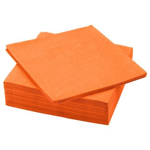 FANTASTISK paper napkin orange 40 cm 40 cm 50 pieces