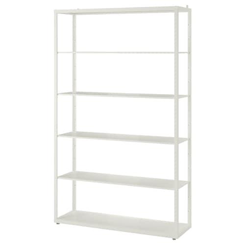 FJÄLKINGE shelving unit white 118 cm 35 cm 193 cm 40 kg 40 kg