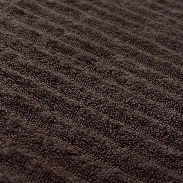 FLODALEN Washcloth, dark brown, 30x30 cm