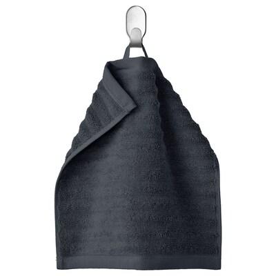 FLODALEN Washcloth, dark grey, 30x30 cm
