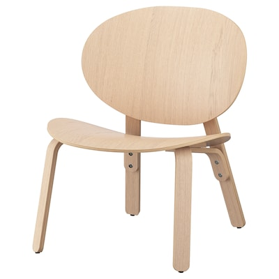 FRÖSET Easy chair, white stained oak veneer