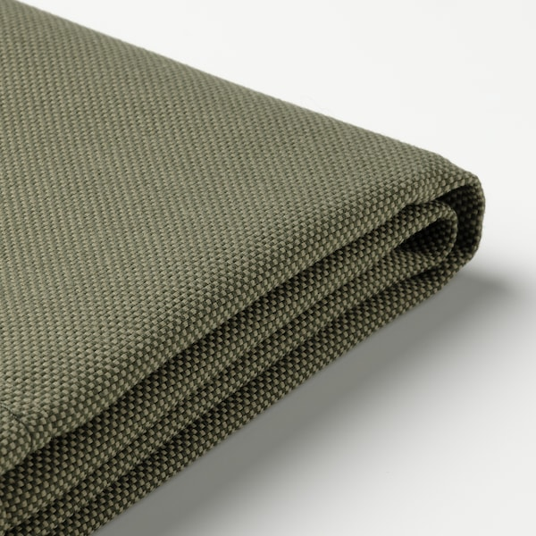 FRÖSÖN Cover for seat/back cushion, outdoor/dark beige-green, 116x45 cm