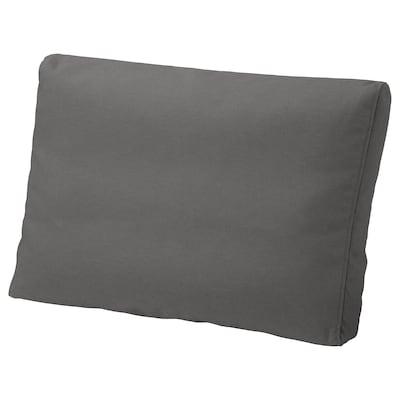 FRÖSÖN/DUVHOLMEN Back cushion, outdoor, dark grey, 62x44 cm