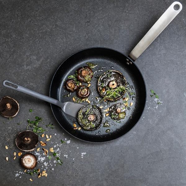 FULLÄNDAD 5-piece kitchen utensil set, grey