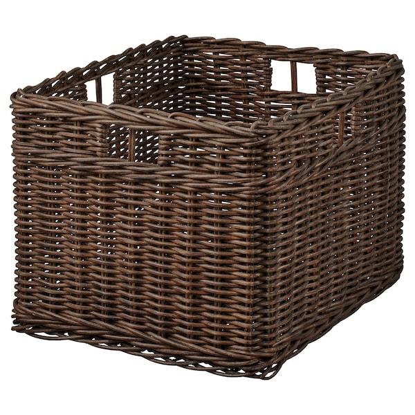 GABBIG Basket, dark brown, 29x38x25 cm